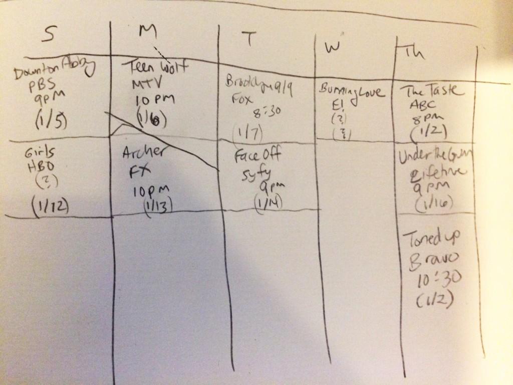 recap schedule